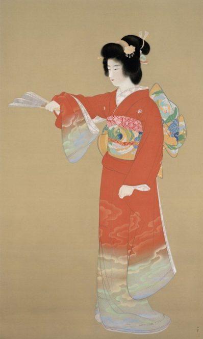上村松園『序の舞』 1936年