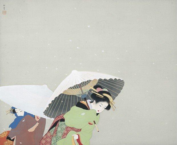 上村松園『牡丹雪』 1944年